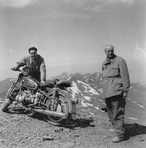 """Mario Artusio, il motociclista che ha creato il il Motoraduno """"Stella Alpina"""" al Sommeiller"""
