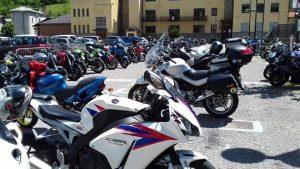 Una parte delle moto presenti a Oulx per l'edizione 2016